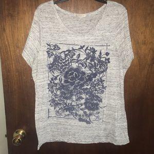 Plus size short sleeve shirt top